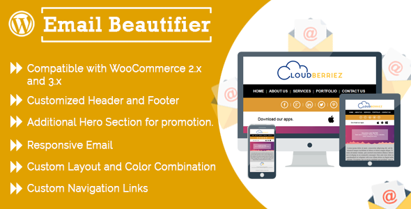 WP Email Beautifier - CloudBerriez - CodeCanyon Item for Sale