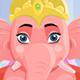 Hindu God Lord Ganesha With Alpha Channel