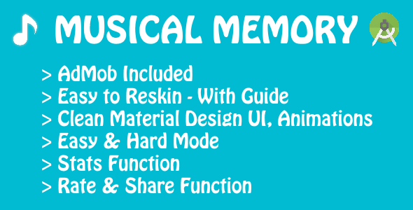 Musical Memory - Game with AdMob - CodeCanyon Item for Sale