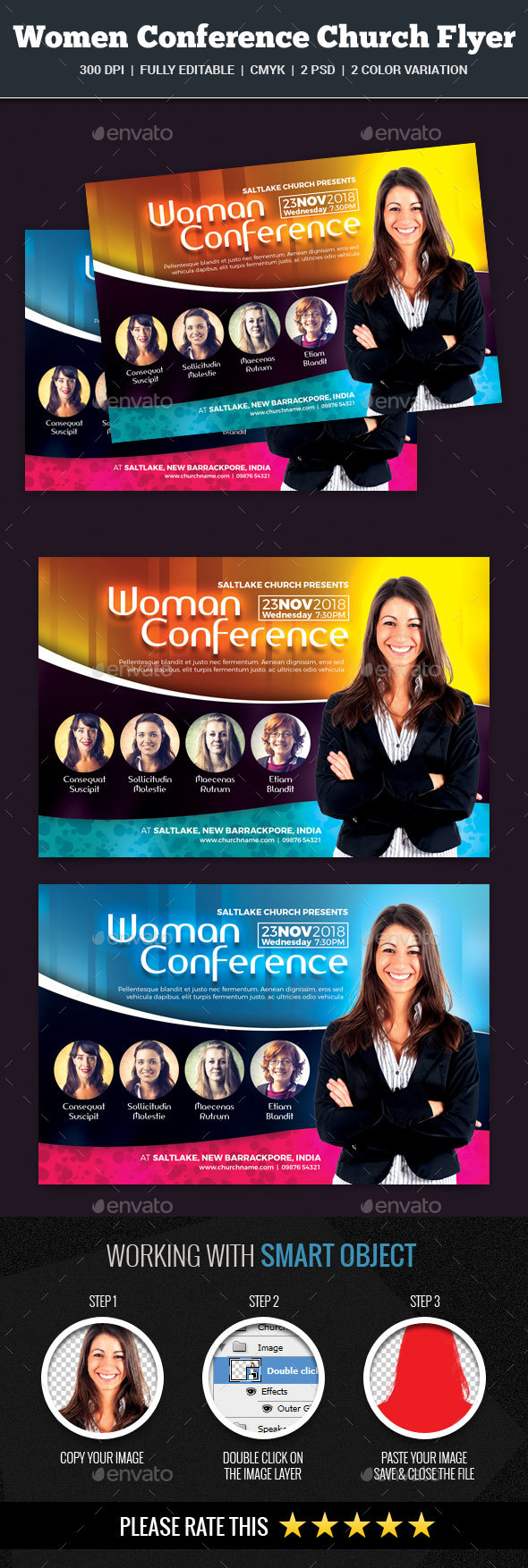 Woman Conference Church Flyer - Church Flyers