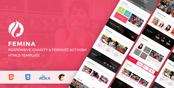 Femina Responsive Charity & Feminist Activism HTML5 Template