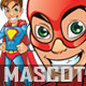 Manga Superhero Mascot - GraphicRiver Item for Sale
