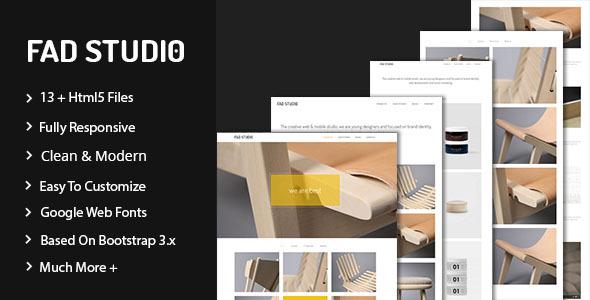 Fad Studio – Minimal Portfolio Template