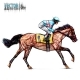 Jockey on Horse. Champion. Horse Racing - GraphicRiver Item for Sale