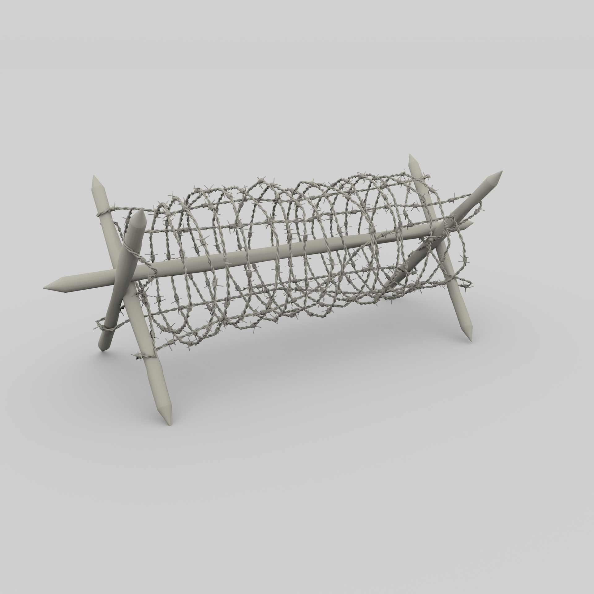 Barb Wire Obstacle Collection by dragosburian | 3DOcean