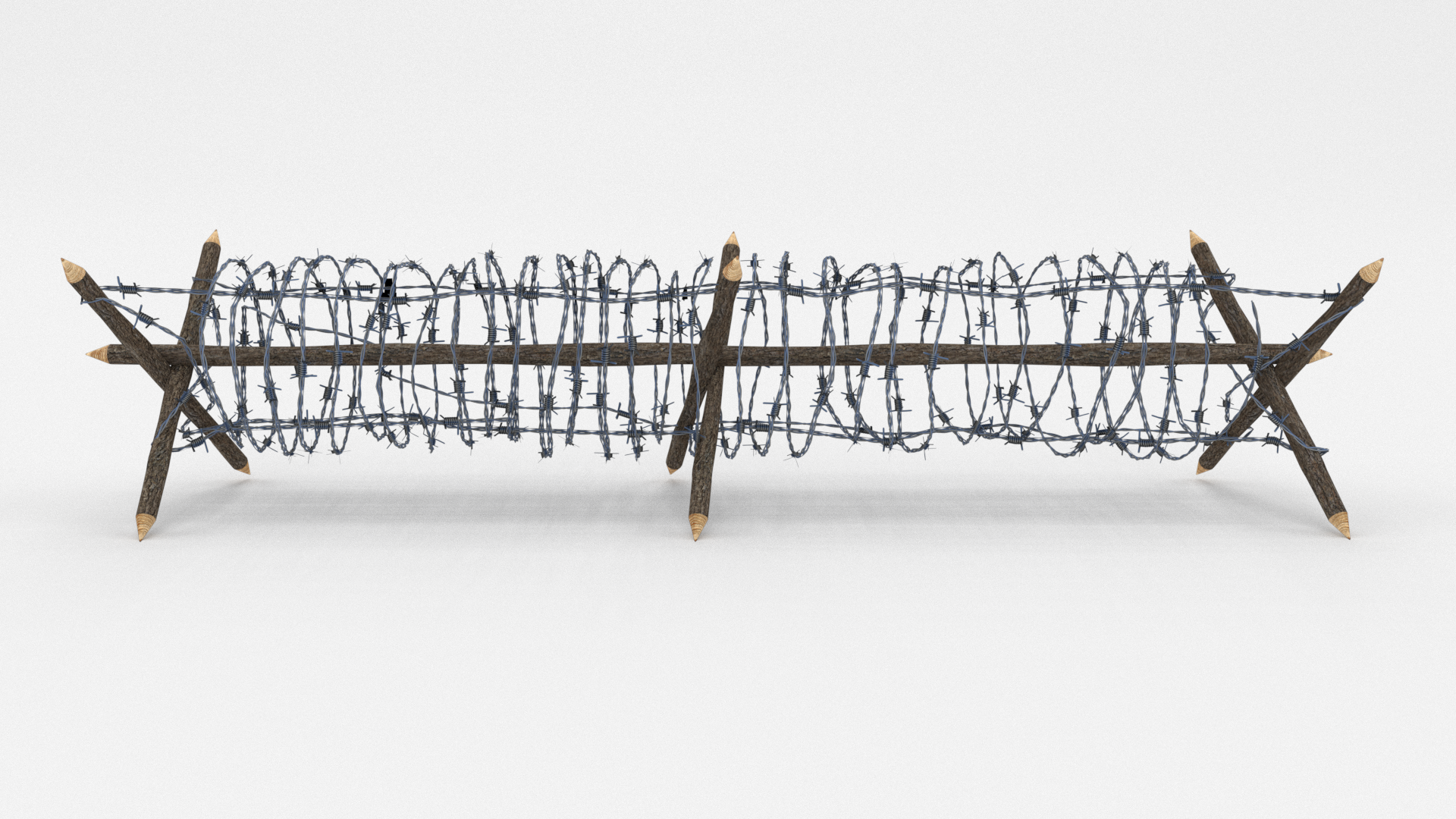 Lowpoly Barb Wire Obstacle Collection by dragosburian | 3DOcean