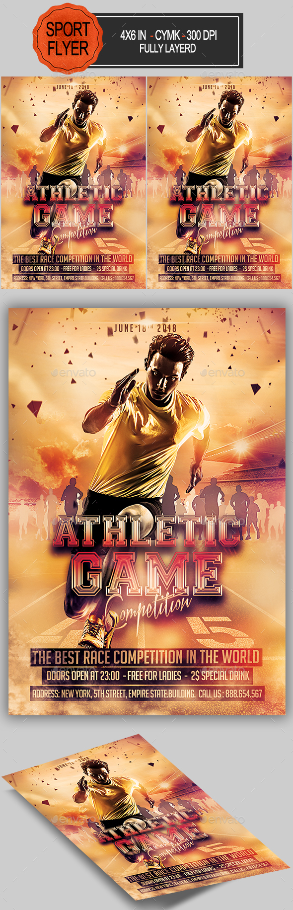 Athletic Game Competition Flyer - Sports Events