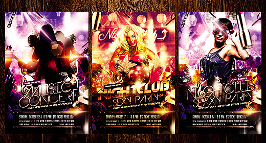 Night Club and Music Flyers