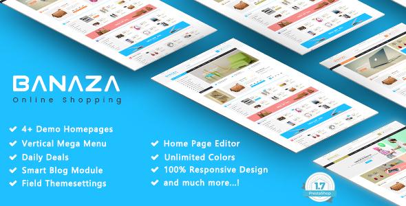 Banaza - Shopping Responsive Prestashop 1.7 Theme