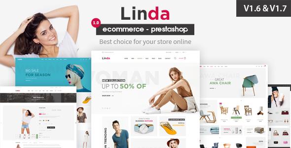 Linda Responsive Prestashop 1.6, 1.7  Theme