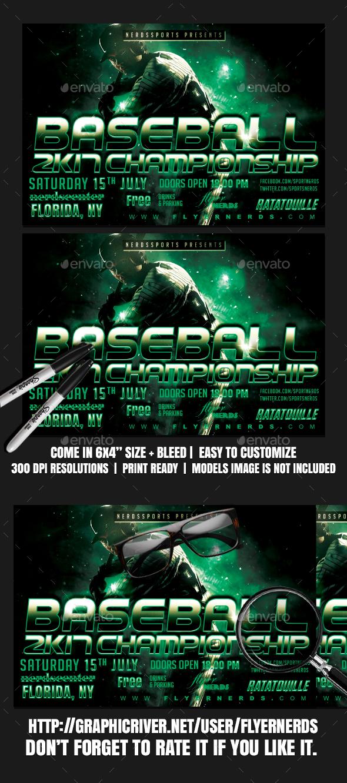 Baseball World Championships Sports Flyer - Sports Events