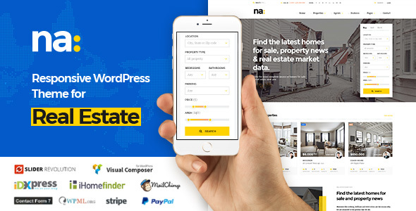 NA - Responsive WordPress Theme for Real Estate - Real Estate WordPress