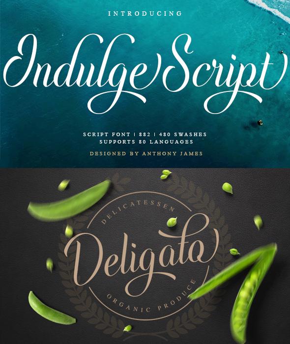 Indulge Script - Script Fonts