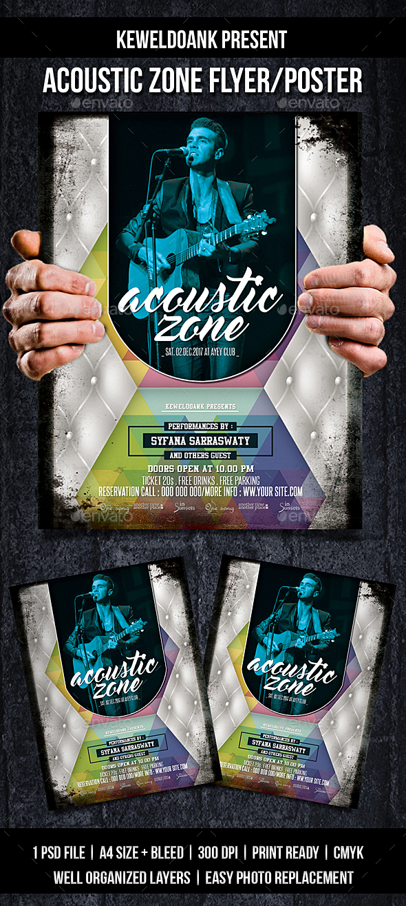 Acoustic Zone Flyer / Poster - Events Flyers