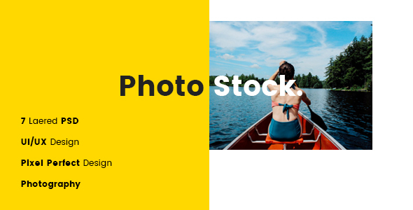 Photostock PSD Template