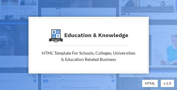 Education and Knowledge - University, College and School Education