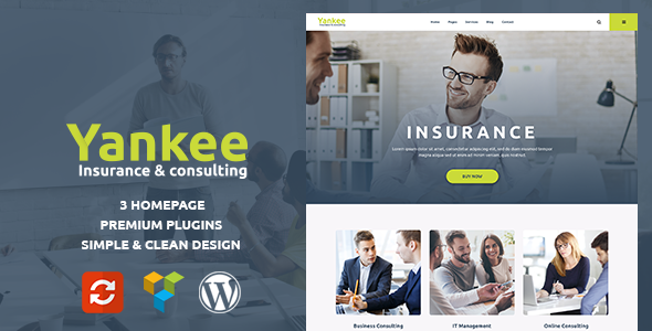 Yankee - Insurance & Consulting WordPress Theme - Business Corporate