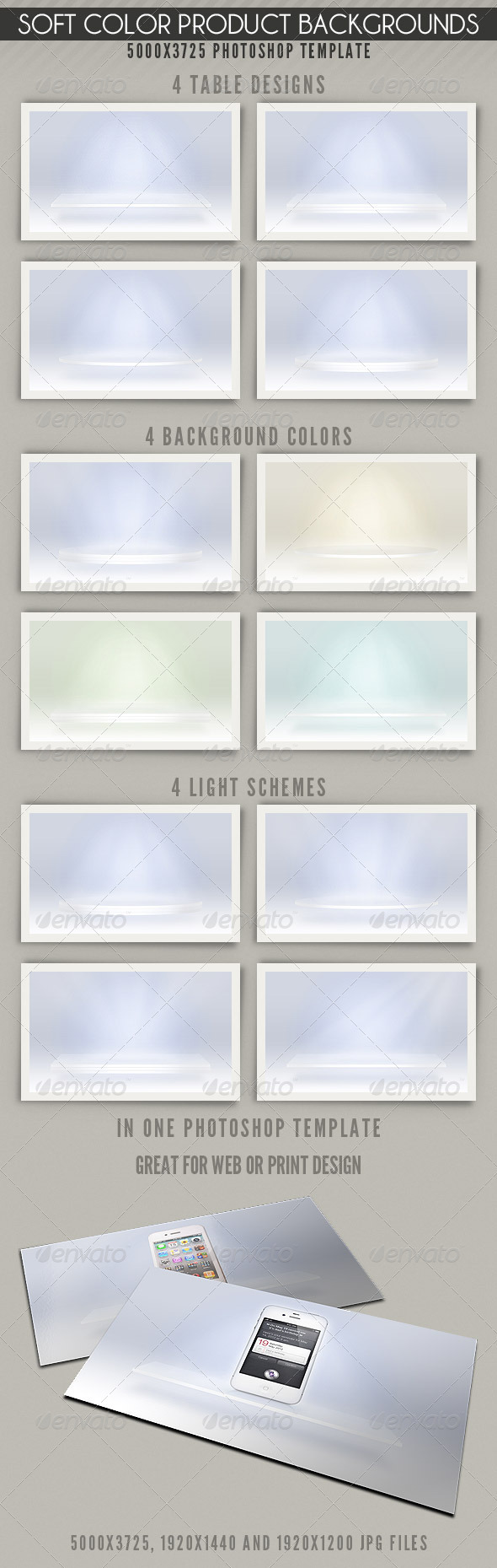 Soft Color Product Backgrounds - Abstract Backgrounds