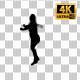 Overweight Woman Dancing Silhouette-3 - VideoHive Item for Sale