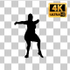Overweight Woman Dancing Silhouette-6 - VideoHive Item for Sale