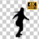 Overweight Woman Dancing Silhouette-7 - VideoHive Item for Sale