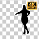 Overweight Woman Dancing Silhouette-9 - VideoHive Item for Sale