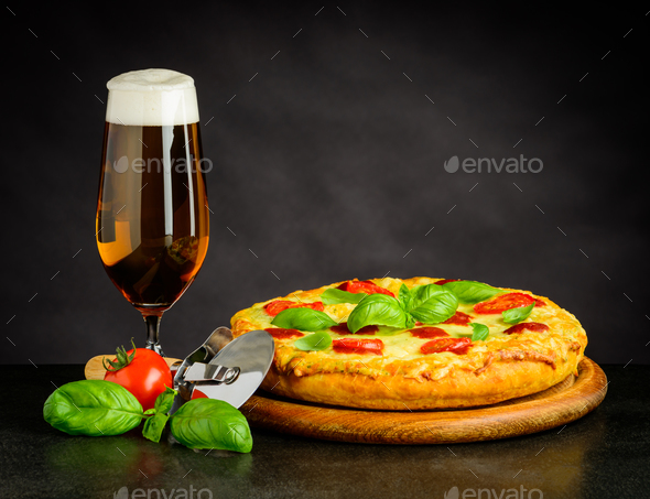 Beer and Pizza - Stock Photo - Images