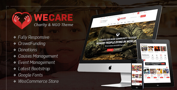 We Care – Charity WordPress Theme