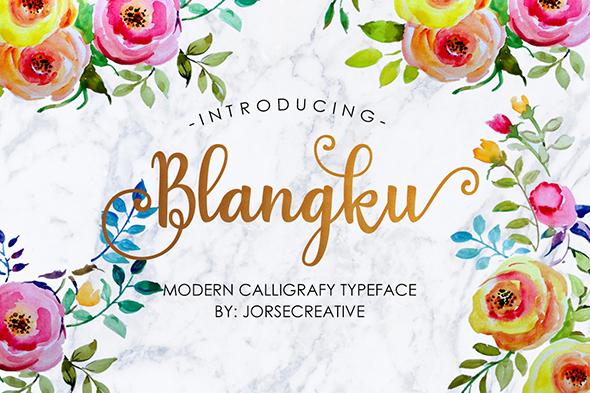 Blangku Font - Script Fonts