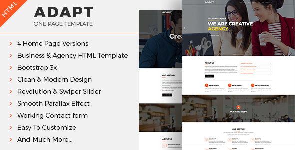 Adapt – One-page Business & Agency HTML Template
