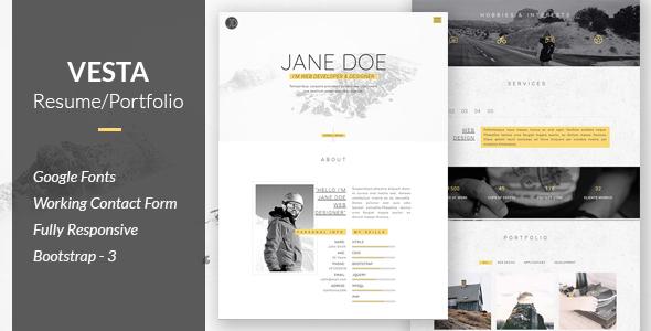 Vesta - Resume/Portfolio