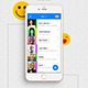 iOS+Android Chatting App UI Set- Modern Design