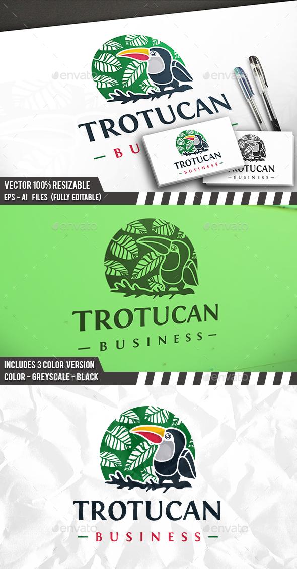 Tropical Toucan Logo - Nature Logo Templates