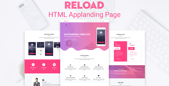 Reload- Saas,Apps,Marketing HTML Template