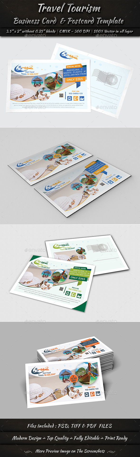 Business Card & Postcard Template - Cards & Invites Print Templates