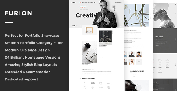 Furion - Creative Blog & Portfolio WordPress Theme