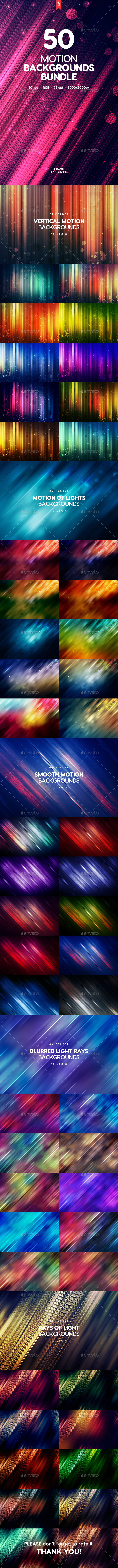 50 Abstract Motion Backgrounds Bundle - Abstract Backgrounds