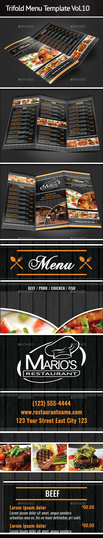 Trifold Menu Template Vol.10 - Restaurant Flyers