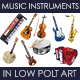 Music Instruments in Low Poly Art - GraphicRiver Item for Sale