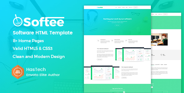 Softee - Software / SaaS Product Template - Software Technology