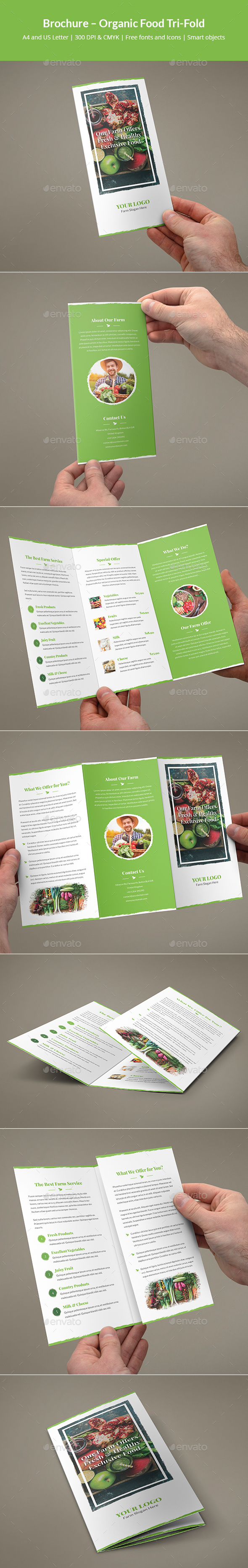Brochure – Organic Food Tri-Fold - Informational Brochures