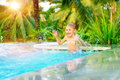 Happy boy in the pool - PhotoDune Item for Sale