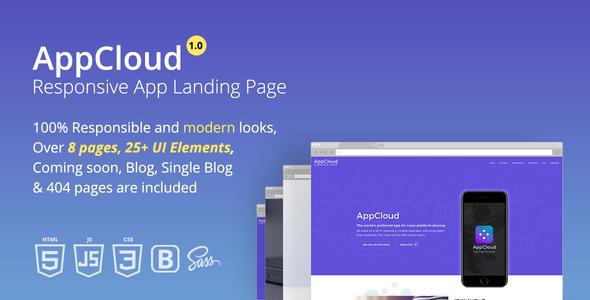 AppCloud Responsive App Landing Page