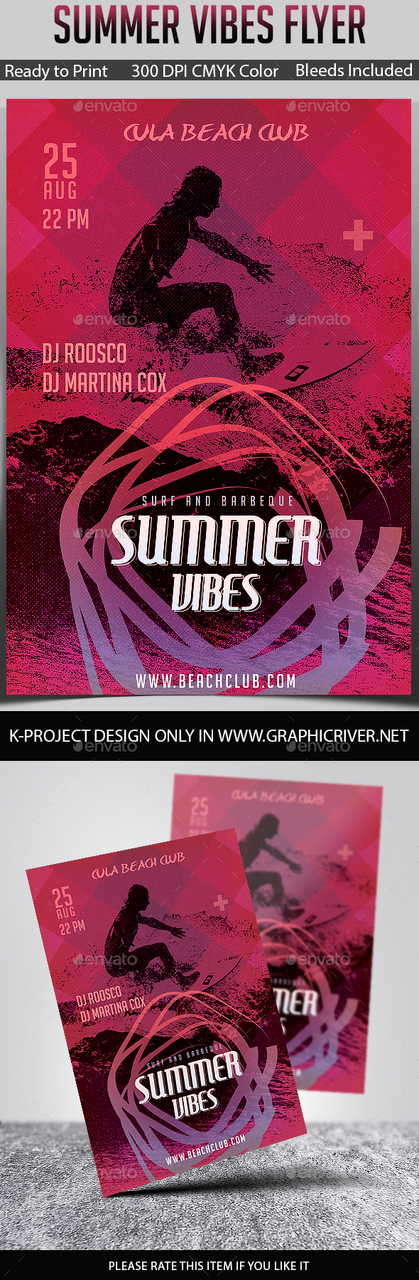 Summer Vibes Party Flyer v2 - Clubs & Parties Events