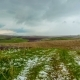 TimeLaps. Snow Fell on the Spring Agricultural Fields, in the Aqsa Dzhabaglinsky Reserve, the - VideoHive Item for Sale