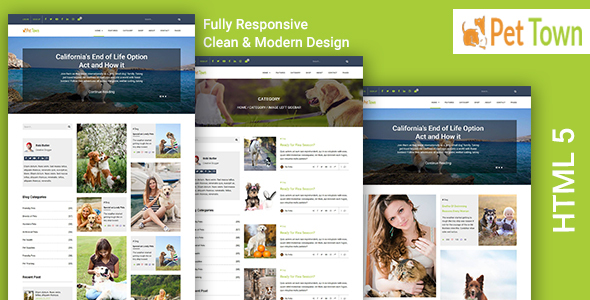 PetTown – Blog & Shop Responsive Template
