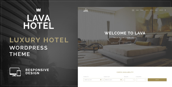 Lava – Luxury Hotel WordPress Theme