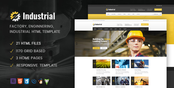 Industrial – Factory / Industry / Engineering HTML Template