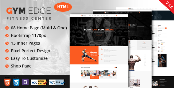 GYM Edge - Gym & Fitness HTML5 Responsive Template