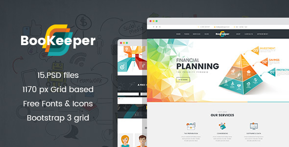 BooKeeper – Finances/Accounting PSD Template